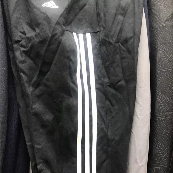 NEW Adidas  black Tapered fit sweatpants 3 stripes